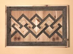 Original, unique, one-one-of-a-kind wall hanging Made from reclaimed barn wood from a Montana cattle ranch and cedar 34.5 Width 24 Height 3.5 Depth/Thickness 27.4 Lbs - Weight 3D design (hard to see from the pictures) Pictures dont do this piece justice.