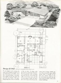 Vintage House Plans: Dramatic Mid Century Contemporary | Antique Alter Ego