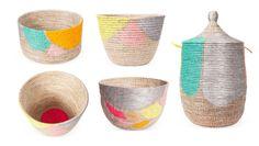 Karen Kimmel hand painted baskets via happymundane.com
