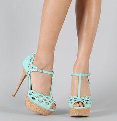 Felina-01 Suede T-Strap Cut Out Peep Toe Sandal on Wanelo