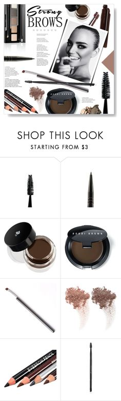 """""""Big Bold Brows..."""" by desert-belle ❤ liked on Polyvore featuring beauty, Lancôme, Bobbi Brown Cosmetics, NARS Cosmetics, Charlotte Russe, Beauty, polyvoreeditorial, bobbybrown and perfectbrows"""