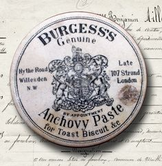 Burgess's Genuine Anchovy Paste.
