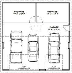 Dimensions of one car garage planos for 1 5 car garage dimensions
