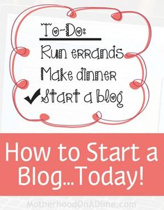 Step-by-Step to get started GREAT tutorial! Green Marketing, Make Money Blogging, Saving Money, Blog Planner, Blogging For Beginners, Mom Blogs, Blog Tips, Writing A Book, Activities For Kids