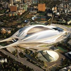Zaha Hadid to design  Japan National Stadium.  Solution is too busy...No ego should be larger than the ritual of FOOTBALL.