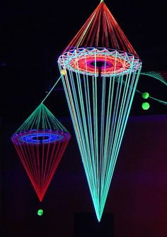Festival-Dekor-Ideen - Sculpture - Print the sulpture yourself - Festival-Dekor-Ideen Feiertage und Anlasse Art Sculpture, Sculptures, Arte Linear, Light Installation, Neon Lighting, Party Lighting, Light Art, 3d Light, Art Projects
