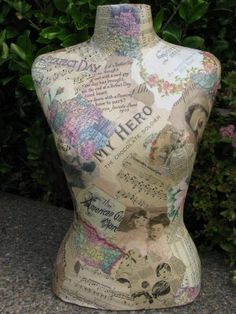 decopage dress form