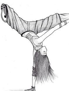 Hip Hop Dancer Sketch