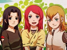 Team 7's Mothers - Mikoto Uchiha, Kushina Uzumaki, Shibaku Haruno