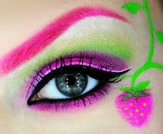 Eye Makeup pretty color and stawberry