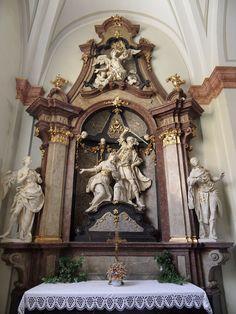 Ondřej Schweigl – Oltář sv. Barbory, kostel sv. Františka Xaverského, Uherské Hradiště (1770–1773)