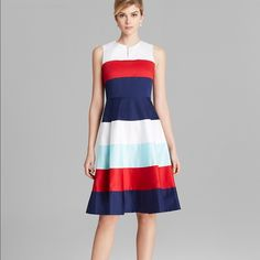 kate spade of new york Beautiful Corley dress from ksny! In perfect condition and worn only 2 times. Perfect for the girly chic and sophisticated lady....flares like no other.  Wear it to the Derby or a patriotic weekend on the lake. It's perfect. kate spade Dresses Midi