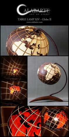 Table lamp XIV Globe II by Calabarte. Handcrafted lamp is made of senegalese…