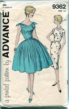 1960s COCKTAIL PARTY Dress Pattern Day by DesignRewindFashions
