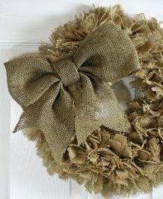 Handmade Burlap Rag Wreath 16 Choice of by CottonRidgeEmporium, $48.00