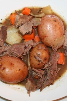 My brother gave me a ton of frozen deer meat from last year's hunting season. My husband found a recipe for venison stew in an issue of Outdoor Life. I modified it and used it for a venison roast...