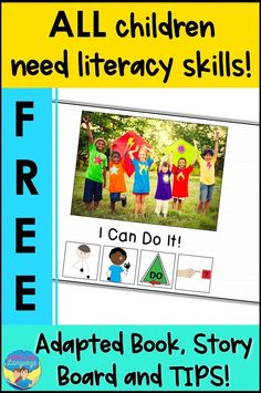 Download this free adapted core word book when you sign up for the LooksLikeLanguage mailing list. A printable AAC story communication point board and tips for adaptive literacy are free, too! Click to get it now!
