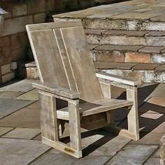 reclaimed wooden chair from Scaffa - stylish, comfortable and sturdy Outdoor Chairs, Outdoor Furniture, Outdoor Decor, Driftwood Projects, Stools, Kitchen Ideas, Patio, Rustic, Bar