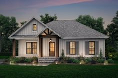 Country Style House Plan - 2 Beds 2 Baths 1301 Sq/Ft Plan #430-239 - Dreamhomesource.com