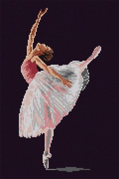 Ballerina / PDF Cross Stitch Pattern, You can create very specific habits for materials with cross stitch. Cross stitch types will very nearly impress you. Cross stitch novices could make the types they want without difficulty. 123 Cross Stitch, Cross Stitch Fairy, Cross Stitch Heart, Counted Cross Stitch Patterns, Cross Stitch Designs, Cross Stitch Embroidery, Ballerina, Creative Embroidery, Diy And Crafts Sewing
