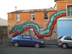 Picture of Big Walls by Putos - Melbourne (Australia) Street Wall Art, Year Of The Dragon, Amazing Street Art, Melbourne Australia, Urban Art, Art And Architecture, Graffiti, Creatures, Walls