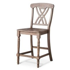 "$99.00/EA  ONE OF MY FAVORITES.  24"" NOT AVAILABLE RIGHT NOW  Hadley 24"" Counter Stool Wood/Gray - Maaya Home : Target"