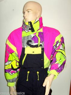 RODEO ski suit onsie size 40 Unisex UK Medium Neon 80s RARE VGC C A Rodeo  Ski b92067540