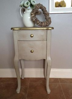 Lovely work by Jackie Loverock 'Annie Sloan Country Grey Chalk Paint, Crackle, Waxed edged in gold'