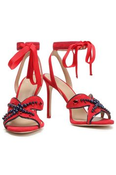 Embellished suede sandals | TORY BURCH | Sale up to 70% off | THE OUTNET