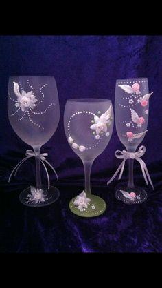 Hand painted wine glasses simple