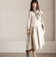 Round Neck Loose Fitting Long Maxi Dress Dress in от deboy2000