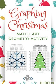 Graphical activity of Christmas coordinate grid geometry! Geometry Activities, Geometry Worksheets, Graphing Activities, Kids Learning Activities, Spring Activities, Art Activities, Teaching Kids, Steam Activities, Educational Activities