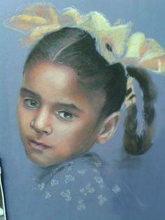 Studio da McCurry pastello su cartoncino
