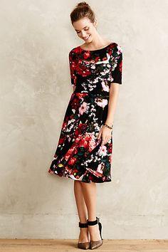 Photostat Floral Dress #anthropologie