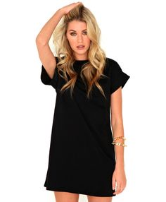 Davina Roll Sleeve Oversized Dress - Dresses -Missguided