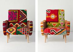 this kilim armchair is the perfect signature piece