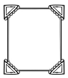 Cute Clipart, Frame Clipart, Borders For Paper, Borders And Frames, Classroom Borders, Coloring Books, Coloring Pages, Doodle Frames, Travel Books