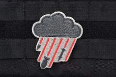 "Buy AMS ""Hard Rain"" Patch - Full Color - Premium Hi-Fidelity Patch Series 
