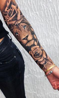 tattoos on back for women * tattoos on back ; tattoos on back of arm ; tattoos on back for women ; tattoos on back of neck ; tattoos on back shoulder ; tattoos on back of ankle ; tattoos on back of leg ; tattoos on back of arm above elbow Forarm Tattoos, Body Art Tattoos, Girl Tattoos, Tatoos, Leo Lion Tattoos, Lion Arm Tattoo, Rose Tattoo Forearm, Badass Tattoos, Lion Tattoo On Back