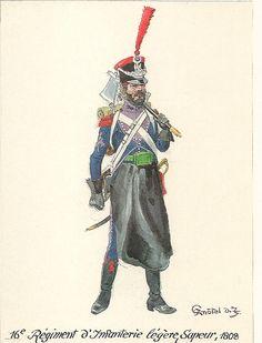 Light Infantry; 16th Regt. Sapper 1808