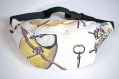 #Bumbag #Fannypack #birds #cotton #fabric #Ivory ykk by #beksiesboutique http://etsy.me/1rmW9uF via @Etsy #shabbychic #bags #summer #kids