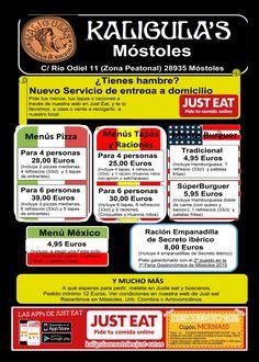 Pide comida a domicilio en Kaligula's Mostoles
