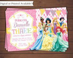 Items similar to Disney Princess Invitation -Printable Party Invitations - Disney Princess Birthday Party on Etsy