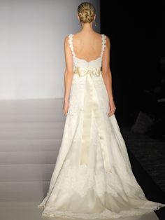 Anne Barge Lanier Discount Designer Wedding Dress with Alencon Lace