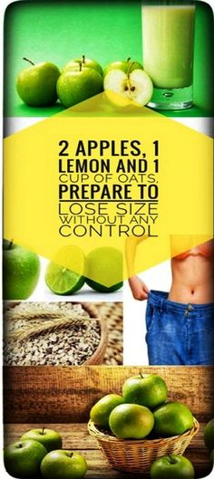 2 Apples, 1 Lemon And 1 Cup Of Oats, Prepare To Lose Size Without Any Control - natural health magazine Lose Weight Quick, Weight Gain, Weight Loss, Losing Weight, Healthy Smoothies, Smoothie Recipes, Healthy Drinks, Vitamix Recipes, Detox Drinks