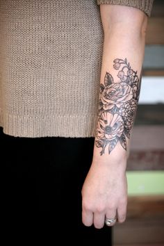 botanical tattoo by kirsten holliday