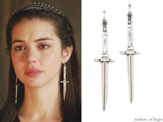 Pamela Love Sterling Silver Dagger Earrings - The costumes and jewelry on this show are far from period-accurate, but I don't care!!