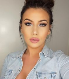 """Lenses: desioeyes Innocent white Lips: HM velvet lip cream Enchante mixed with Gerard Cosmetics matte lipstick Aphrodite - Jelena Peric Gorgeous Eyes, Gorgeous Makeup, Pretty Makeup, Love Makeup, Makeup Tips, Beauty Makeup, Makeup Looks, Hair Beauty, Full Face Makeup"