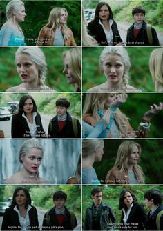 """""""If Snow Queen wants us to be her sisters, then the curse won't effect us. """" Elsa, Emma and Regina- 4* 9 """"The Fall.""""#ShatteredSight #OnceisFrozen"""