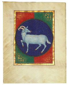 Aries  Book of hours  Italy, probably Milan, ca. 1473  142 x 110 mm